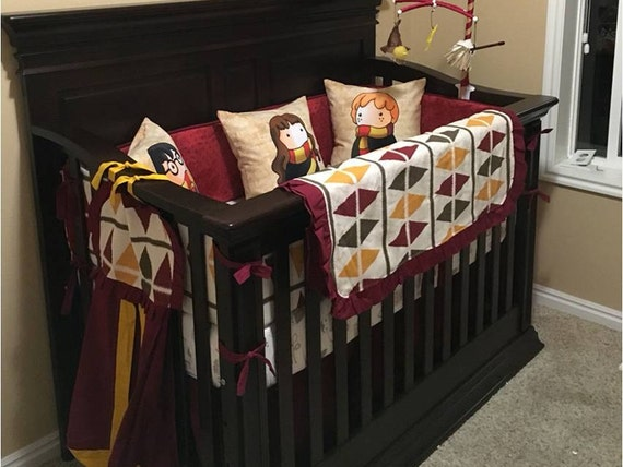 Limited harry potter crib bumper argyle crib bedding - Harry potter crib set ...