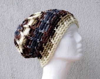 Mens hat Mens gift Handmade crocheted beanie hat Slouch hat winter hat Chunky hat Men's hat Oversized slouch hat Mens beanie Crochet beanie