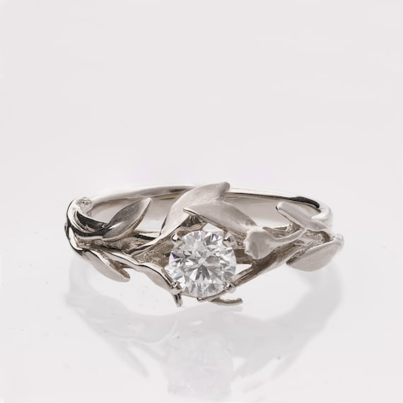 Leaves Engagement Ring No 4 Platinum Engagement Ring