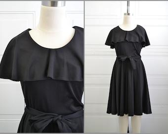 1970s Toni Todd Black Dress