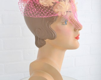 1950s Gami Pink Bow Whimsy Hat