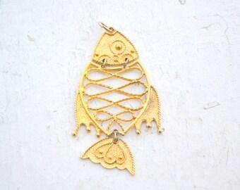 1960s Large Fish Pendant