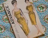 Vintage 1950s 1960s Sewing Pattern / Chic Slim Wiggle Skirt Cocktail Dress / Button Back Bolero Jacket / Size 12 - 32 Bust / UNCUT FF