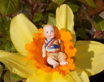 Victorian Patriotic German Bisque Baby Dolls