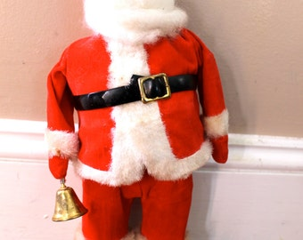 Old Saint Nick... Vintage Flocked Santa Claus, Vintage Christmas Decor