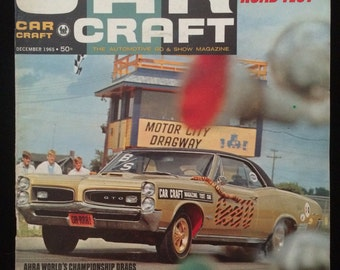 Car Craft Magazine December 1965 Pontiac GTO Cover EXCELLENT Condition