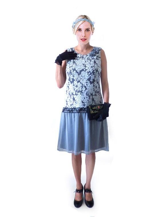 robe charleston gris argent dentelle robe ann e 20 ann e. Black Bedroom Furniture Sets. Home Design Ideas