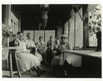 "Vintage Photo ""Sunroom Conversations"" Snapshot Old Antique Photo Black & White Photograph Found Paper Ephemera Vernacular - 72"