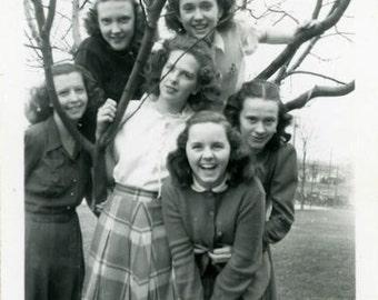"Vintage Photo ""The Teenage Years"" Snapshot Antique Photo Black & White Photograph Found Paper Ephemera Vernacular - 176"