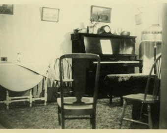 "Vintage Photo ""Anna's First Apartment"" Home Decor Snapshot Old Antique Photo Black & White Photograph Found Paper Ephemera Vernacular - 125"