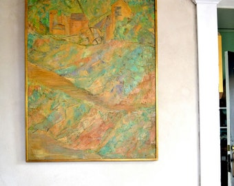 Vintage Abstract Painting Original Signed 1966 Nancy Korach