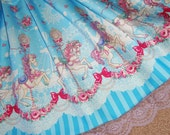 Gorgeous Blue Carousel Ponies Carnival Dream Lolita Skirt - ANY SIZE