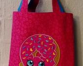 Shopkins Tote with Donut Applique Design