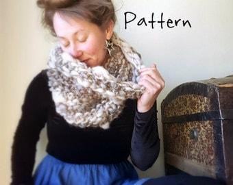 Knitting Pattern From Yospun Yarn Bulky Knit Cowl Infinity