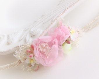Newborn baby prop Pink headband, newborn photography