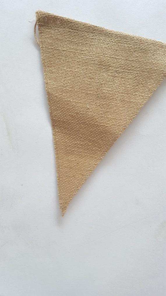 how to make a burlap pennant banner