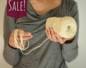 Ivory Jute Twine / string / Yarn - for crafting, kniting, crochet, gift wrapping, packaging, scrapbooking, wedding favors