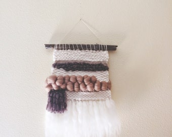 wilderness. a rustic, bohemian woven wall hanging.