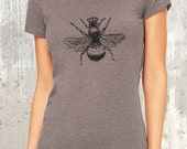 Queen Bee Women's T-Shirt - Women's TriBlend T-Shirt - American Apparel - Available in S, M, L and XL