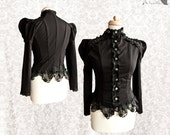 Top Victorian, romantic goth, Steampunk shirt, Devota, Somnia Romantica,  size small see item details for measurements