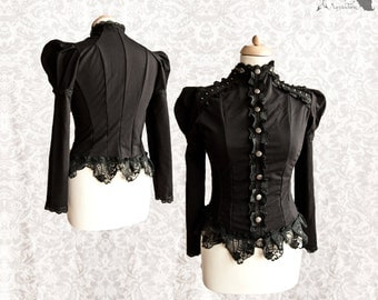Top Victorian, romantic goth, Devota, Somnia Romantica,  size small see item details for measurements