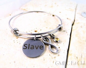 Steel Infinity Slave Bangle  - Limited Quantity
