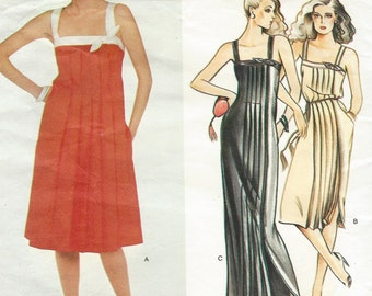 80s Albert Nipon Womens Cocktail or Evening Gown Vogue Sewing Pattern 2533 Size 12 Bust 34 Vogue American Designer Pattern