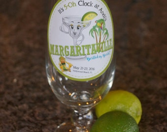 Margarita Labels, Margarita Bash Party, Personalized lables. Margaritaville Party.  Set of 25
