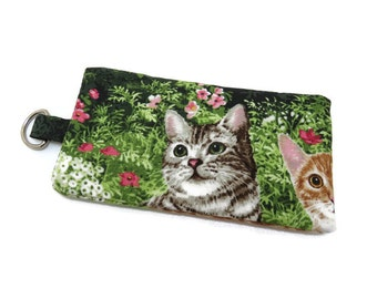 Cell Phone Case, Padded Smartphone Sleeve, Cat Print Cell Phone Cover, Option 1