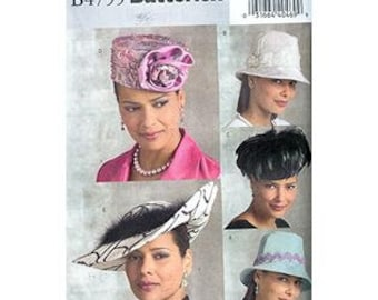 Ladies Hat pattern Butterick B4755 - Five Gorgeous Lined Hats