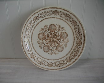 Jamestown China, Brown Transferware Jamestown China Ironstone, Vintage China, Vintage Ironstone
