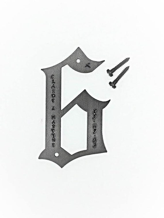 6th YEAR IRON WEDDING Anniversary Gift - Personalized Option Available - Happy 6th - 6 Years Metal Number Wall Decoration