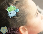 Pokemon Inspired Hair Clip, Badge Reel, Planner Accessory, or Book Mark - Meet Oddish