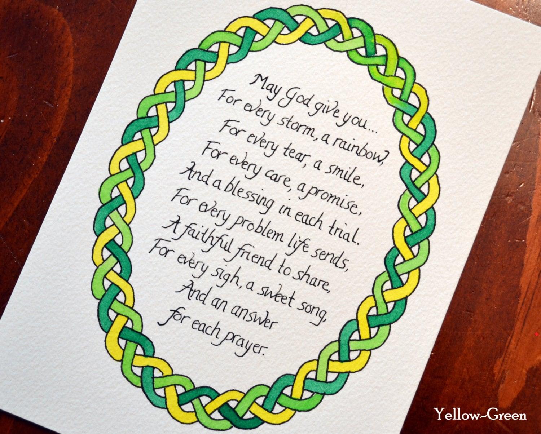 Irish blessing & Celtic knot border | Blue Jay Bay