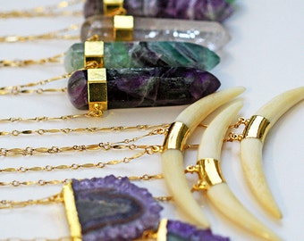 FLUORITE pencil necklace