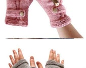 Knitting Fingerless Glove BLACK FRIDAY / Hand Knit Fingerless Gloves  / Light Pink  / Medium size fits most  / Autumn color /