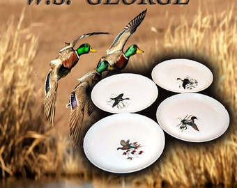 W.S. George Wildfowl Plates  7-3/4""