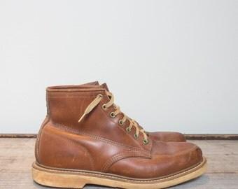 9 D | Men's Short Moc Toe Chukka Work Boots w/ B.F. Goodrich Soles