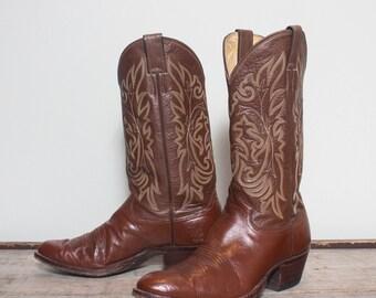 9 D   Men's Justin Brown Western Cowboy Boots
