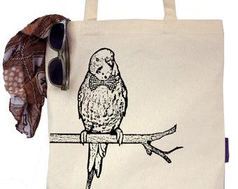 Wally the Parakeet - Budgie - Eco-Friendly Tote Bag