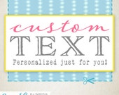 Custom Text Add On - Sassaby Parties - Personalized item just for you