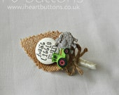 Childrens Buttonholes Best Little Man Buttonhole Boutonniere Wedding Tractor and Sheep Rustic Design