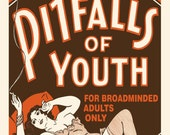 Pitfalls of Youth Vintage Reprint Poster