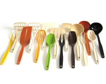 Nylon Plastic Foley Kitchen Utensils 1970s 1980s Kitchen