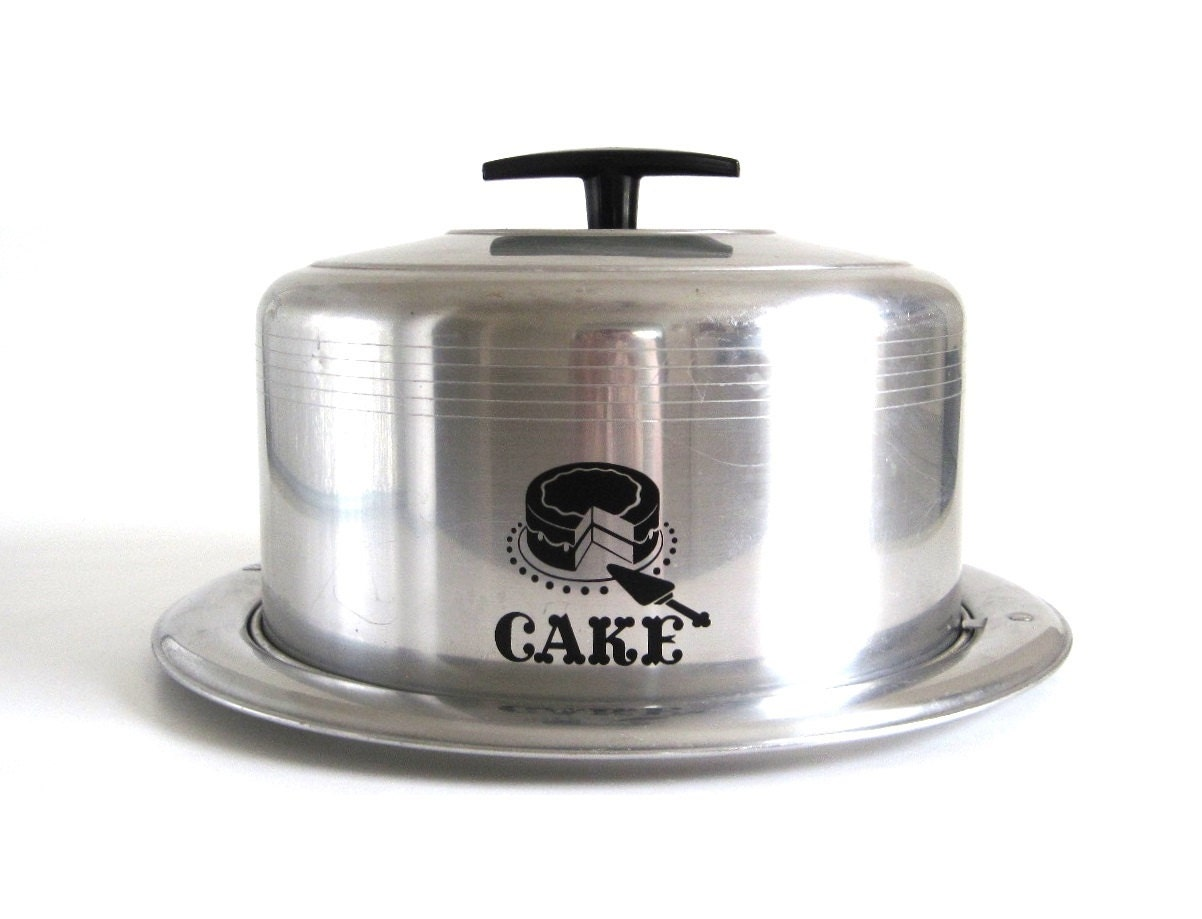Vintage Cake Carrier Keeper Metal Cake Taker By
