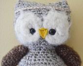Lucy the Owl Crochet Amigurumi Plush Stuffed Animal Plushie Softie READY TO SHIP