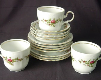 Johann Haviland MOSS ROSE Traditions Fine China - 14 Pieces - Discontinued Pattern