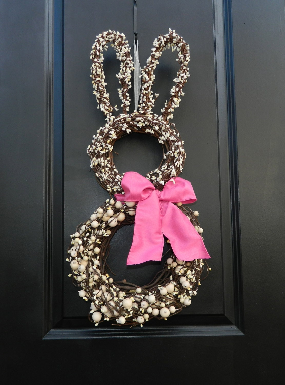Bunny Wreath Easter Wreath Spring Wreath Choose Bow