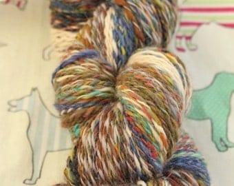 Hand spun yarn in mixed natural fibres (1)