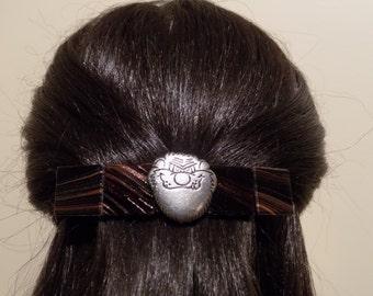 Large Glass Barrette For Thick hair/Handmade Womans Gift/Tasmanian Devil